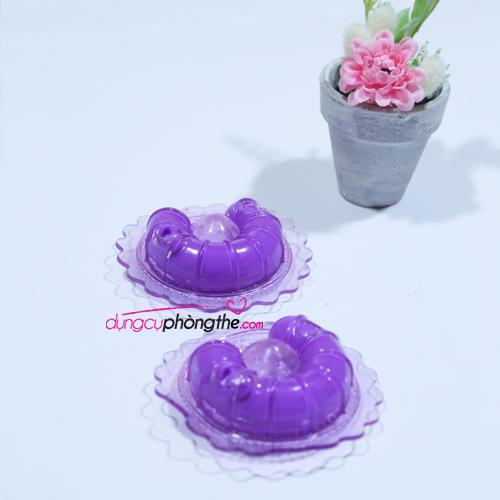 Hình ảnh chụp thật máy massage mini nhũ hoa tím yêu thương
