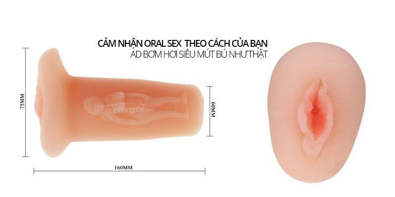 Kích thước âm đạo bơm hơi siêu bú mút giả như thật cực phê chi tiết