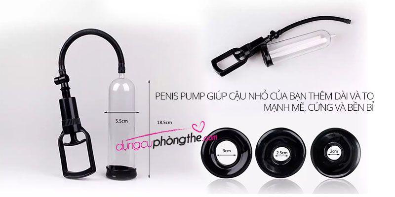 Kích thước đồ chơi tình dục nam làm to dương vật Penis Pump