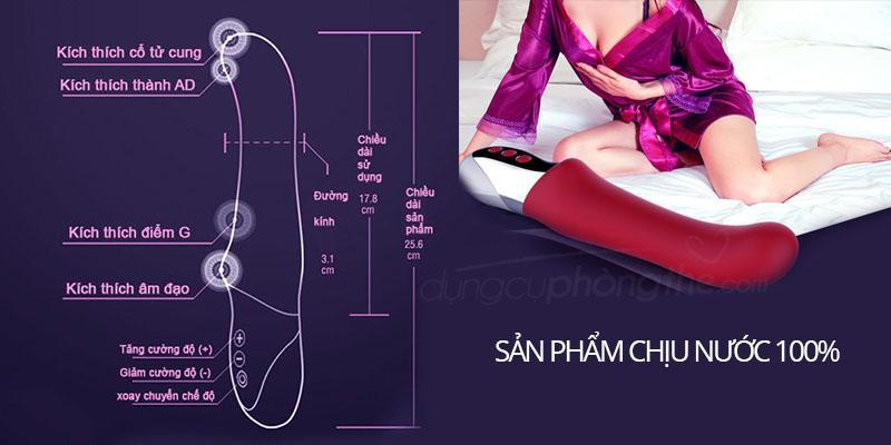 Kích thước máy massage điểm G XuaNai Magic siêu rung cho con gái mới lớn