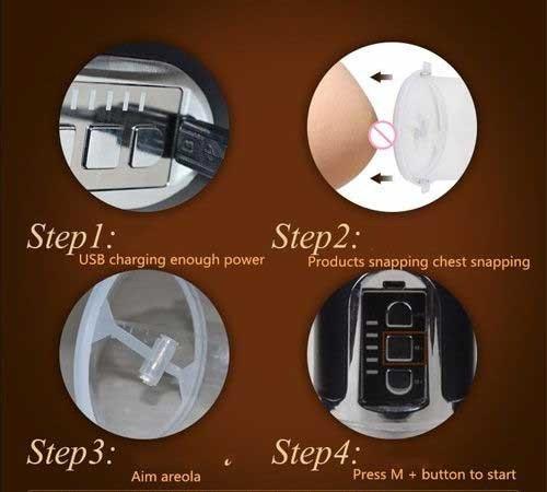 Máy massage ngực Breast Enlarger siêu kích thích hướng dẫn sử dụng