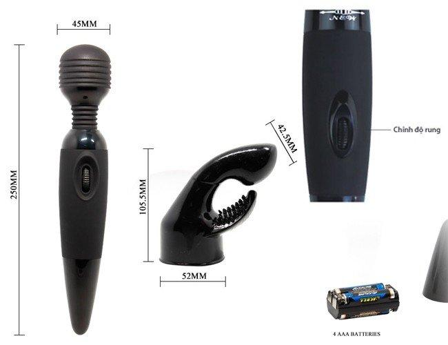 Máy rung Sensual massager chi tiết