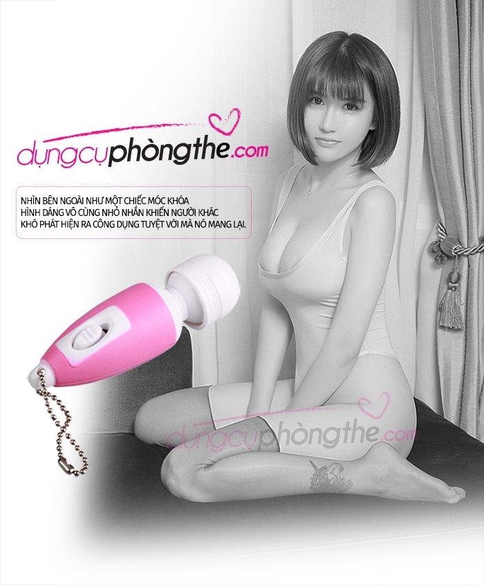Điểm mạnh chinh phục của máy massage mini móc khóa siêu kích thích.