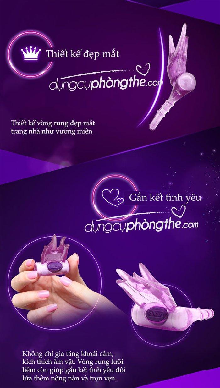 Vòng rung lưỡi liếm Durex Play Bliss kích thích âm vật massage điểm G
