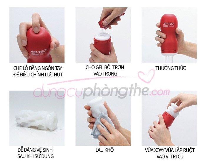 Hướng dẫn dùng cốc thủ dâm Air - Tech Tenga hiệu quả nhất