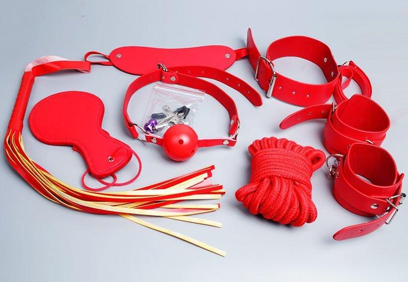 Bộ dụng cụ bạo dâm giá rẻ nhất màu đỏ tươi