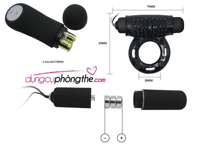 Chi tiết vòng rung đeo cu Power Ring điều khiển từ xa.