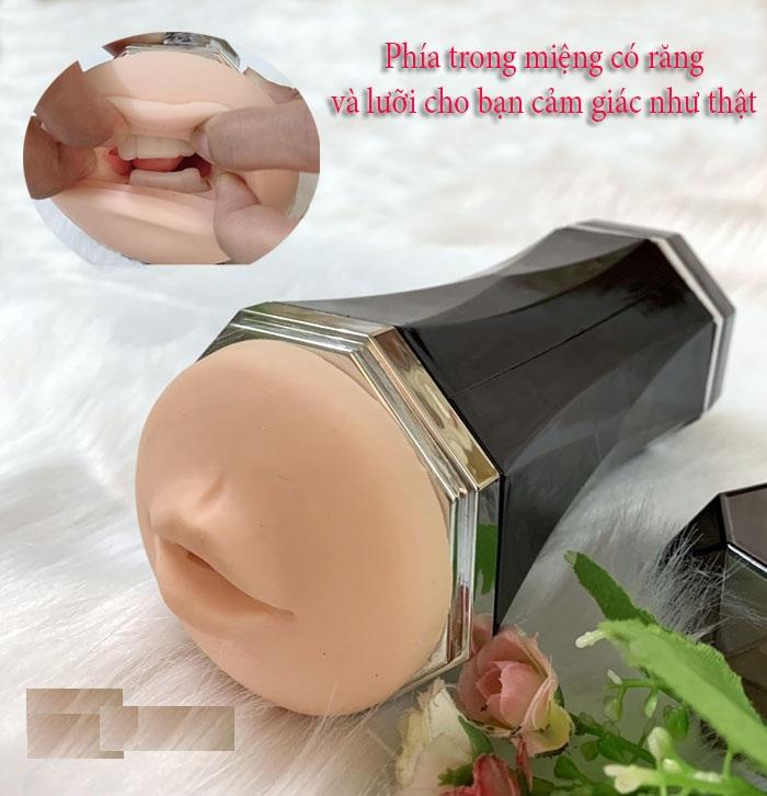 Phần miệng của âm đạo giả rung rên 2 đầu cực phê