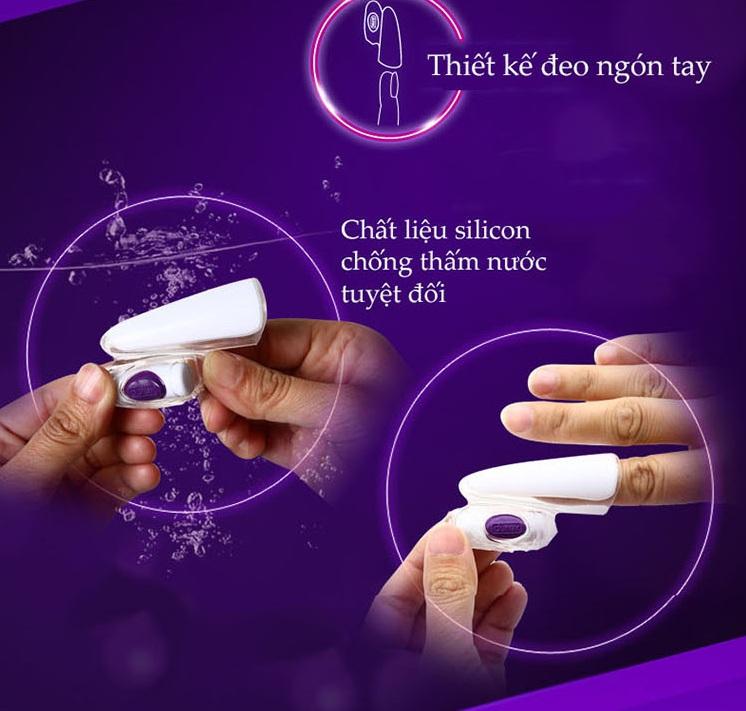 Cách đeo ngon tay máy rung đeo ngón tay massage điểm G Durex Play Finger