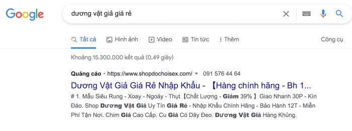 Cách mua dương vật giả giá rẻ trên google