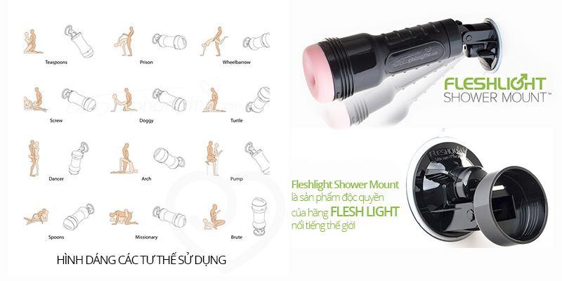 Chi tiết âm đạo giả gắn tường Fleshlight Shower