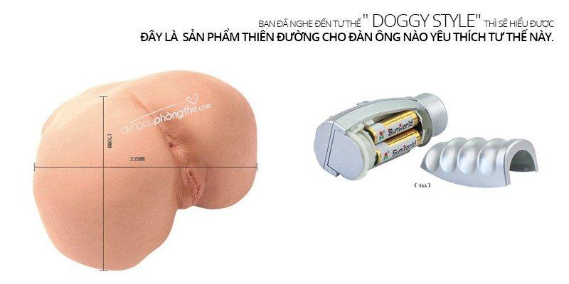 Kích thước âm đạo giả silicon mông Khủng