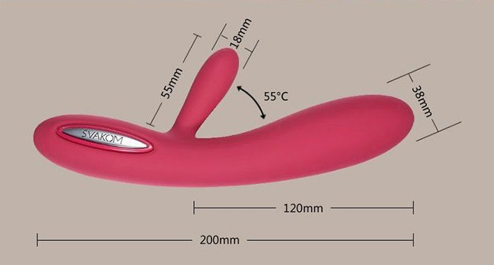 Mát xa điểm G Svakom Lester Cao cấp điều chỉnh nhiệt độ kích thước