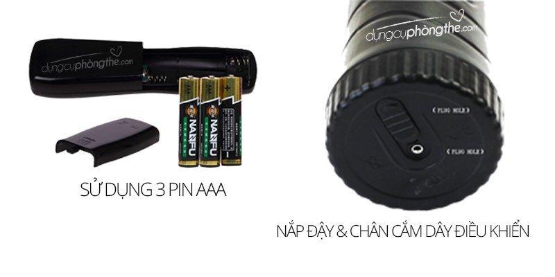 Hướng dẫn sử dụng sextoy nam âm đạo đèn pin 7 chế độ