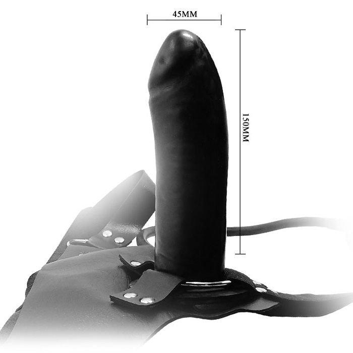 Dương vật giả dây đeo đặc đen Baile chi tiết kích cỡ