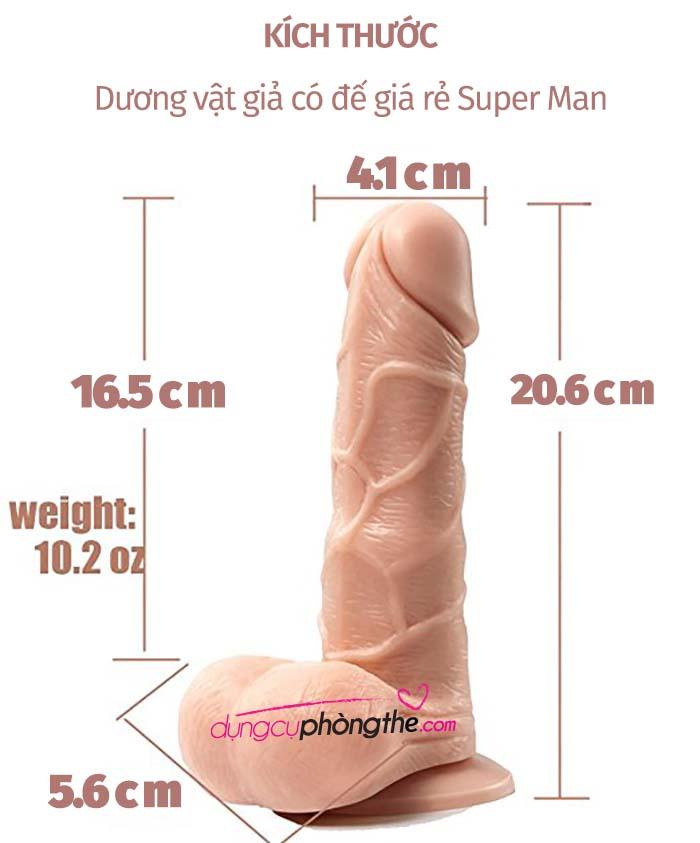 Thông tin chi tiết về cu giả Super Man 8.1 inch có đế siêu rung